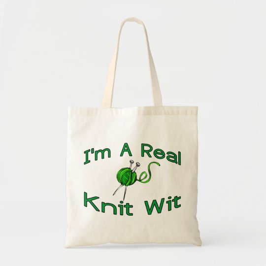 A Real Knit Wit Tote Bag