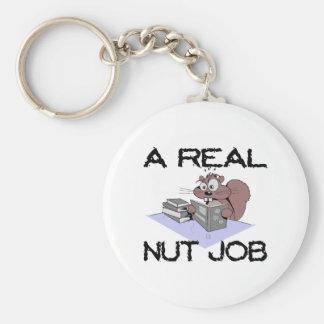 A Real Nut Job Squirrel Keychain