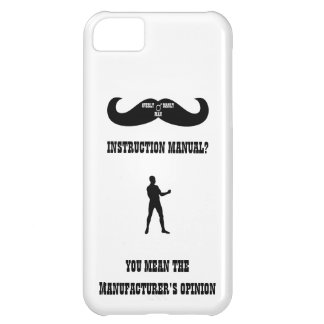 A Real Overly Manly Man - Instruction Manual? Cover For iPhone 5C