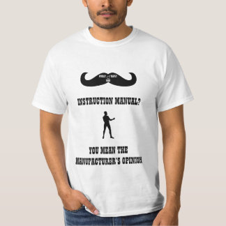 A Real Overly Manly Man - Instruction Manual? Tee Shirt