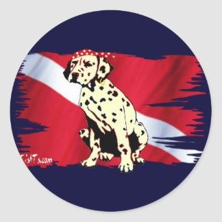 A Real SeaDawg from the Divers Collection Classic Round Sticker