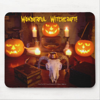 A Real Spooky Halloween Witchcraft Altar Mouse Pad