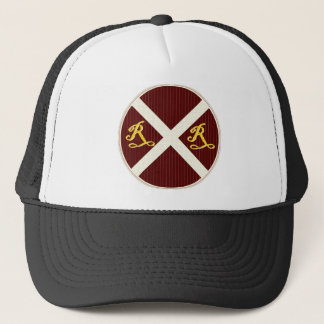 A Really Neat Railroad Crossing Sign Trucker Hat
