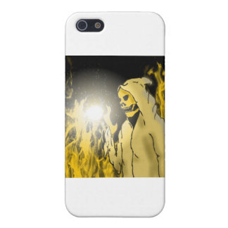 A Reaper in Hell (Gold) iPhone SE/5/5s Cover