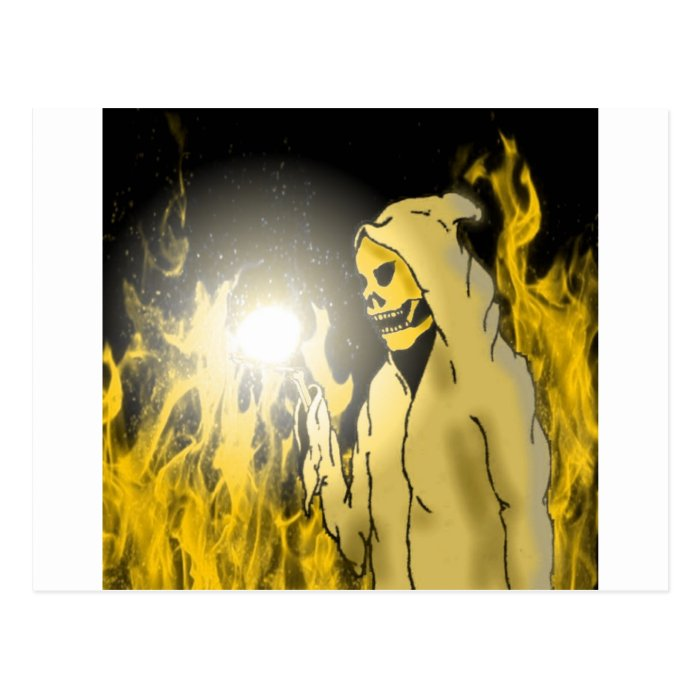 A Reaper in Hell (Gold) Postcard