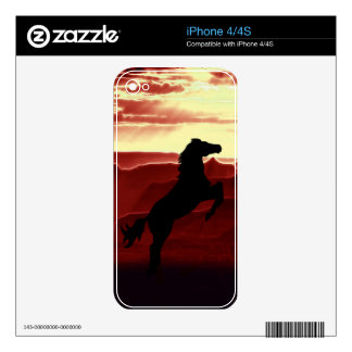 A rearing horse silhouette decals for iPhone 4S