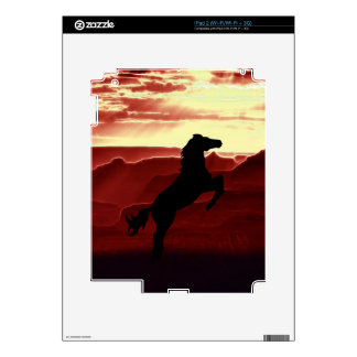 A rearing horse silhouette skins for the iPad 2