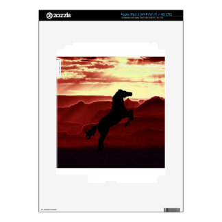 A rearing horse silhouette iPad 3 decal