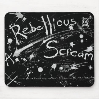 A Rebellious Scream -black version- mousepad