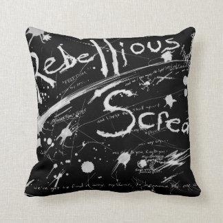 """A Rebellious Scream"" small flip pillow"