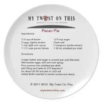 A Recipe Keepsake Plate
