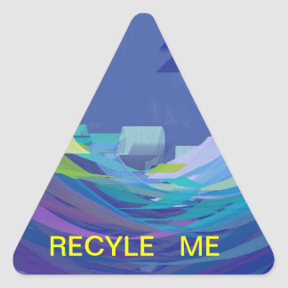 A Recycle Reminder Sticker