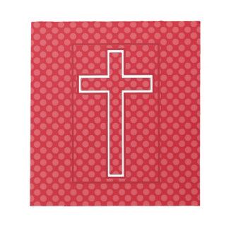 A Red Christian Cross Notepads