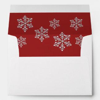 A Red Crystal Snowflake 5X7 Envelope