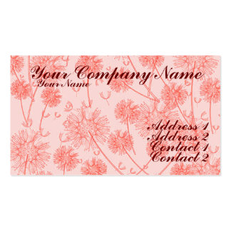 A Red Dandelion Business Card Templates