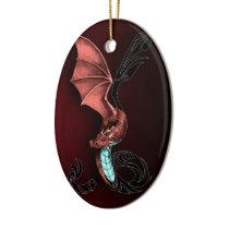 A Red Dragon Ceramic Ornament