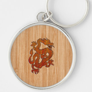 A red Dragon on Bamboo like Keychain