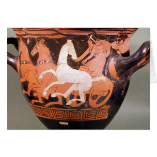 A red-figure bell krater card