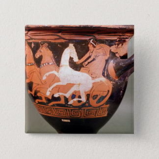 A red-figure bell krater pinback button