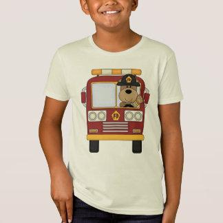 A Red Fire Truck Bear T-Shirt