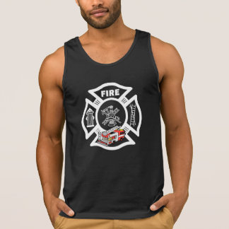 A Red Fire Truck Rescue Tank Top