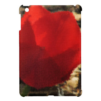 A Red Flower For People Who Love iPad Mini Covers
