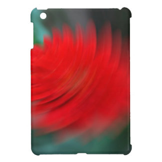 A red flower in a tornado case for the iPad mini