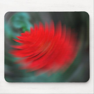 A red flower in a tornado mouse pads