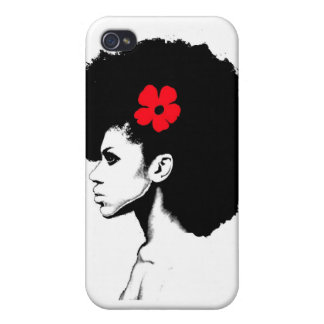 A Red Flower iPhone 4 Covers