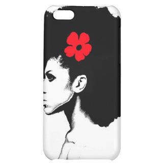 A Red Flower Cover For iPhone 5C