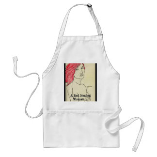 A Red Headed Woman ... Adult Apron