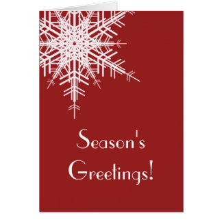 A Red Holiday Card Offset Snowflake (corp)
