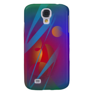 A Red Planet and an Orange Moon Galaxy S4 Cases