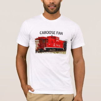 A Red Railroad Caboose T-Shirt