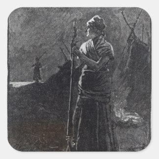 A Red River Colonist, 1878 Square Sticker