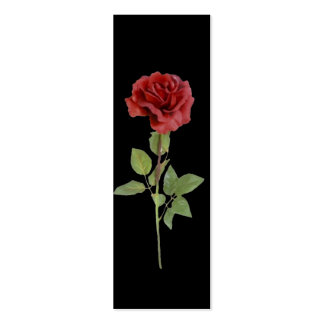 A Red Rose Mini Bookmarks Business Card