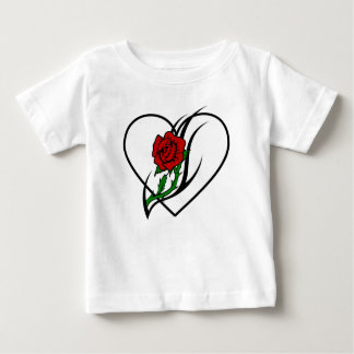 A Red Rose Tattoo Baby T-Shirt