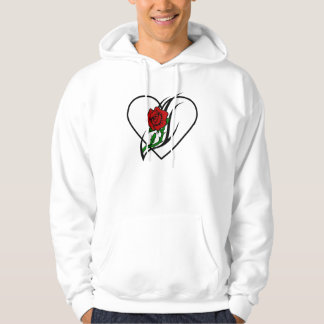 A Red Rose Tattoo Hooded Pullover