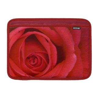 """A Red Rose Up Close 11"""" Sleeve For MacBook Air"""