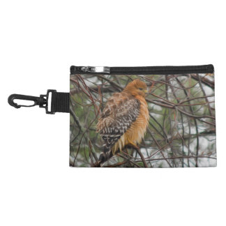 A Red-shouldered Hawk on a Branch Accessories Bags