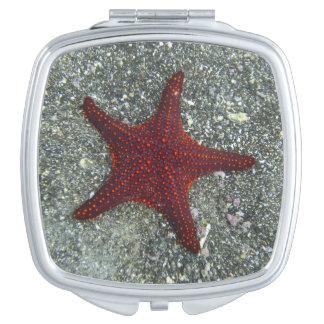 A Red Starfish | Galapagos, Equador Makeup Mirror