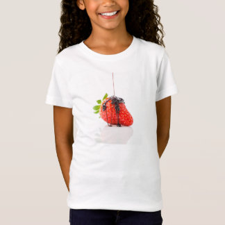 A red strawberry falling chocolate to him T-Shirt