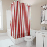 A red striped lace pattern shower curtain