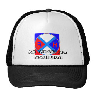 A Red, White, & Blue Sign Trucker Hat