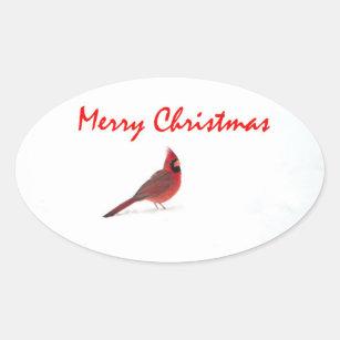 a redbird christmas sticker