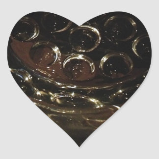 A refreshing glass of wine. heart sticker