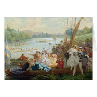 A Regatta at Asnieres during the Second Empire Card