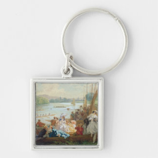 A Regatta at Asnieres during the Second Empire Keychain