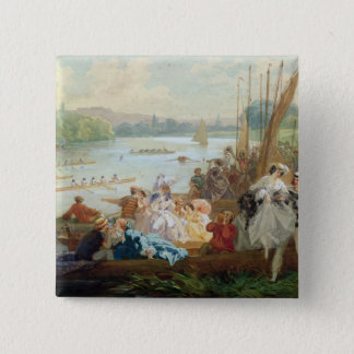 A Regatta at Asnieres during the Second Empire Pinback Button