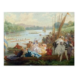 A Regatta at Asnieres during the Second Empire Postcard